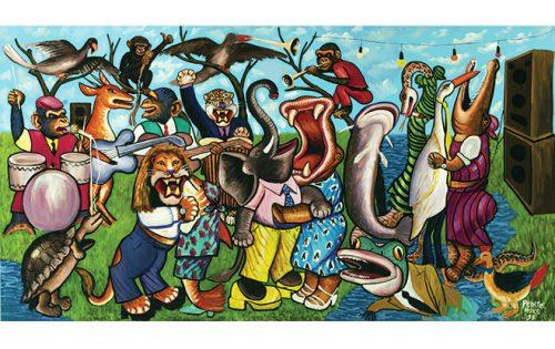 Moke, L'Orchestre dans la forêt, 1999. CAAC – The Pigozzi Collection.